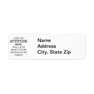 Family Attitude Return Address Label