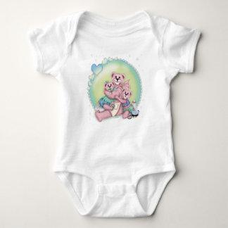 FAMILY BEAR LOVE Baby Jersey Bodysuit