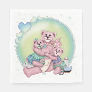 FAMILY BEAR LOVE CARTOON NAPKINS PAPER NAPKIN
