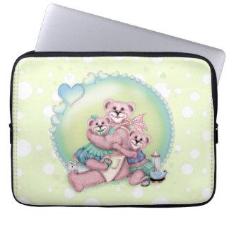 FAMILY BEAR LOVE Electronics Bag 13 inch