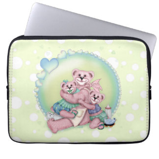 FAMILY BEAR LOVE Electronics Bag 13 inch Computer Sleeve