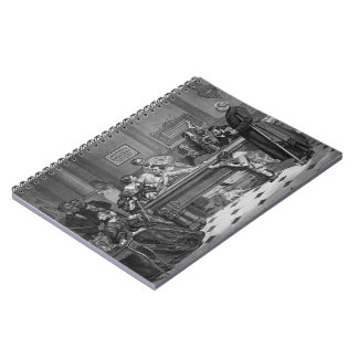 Family Billiards 1891 Spiral Notebook