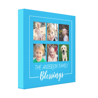 Family Blessings | 6 Photo Collage Canvas Print