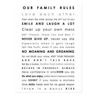 Family Boundaries Postcard