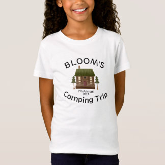 Family Camping Trip Cabin Campfire Personalize T-Shirt