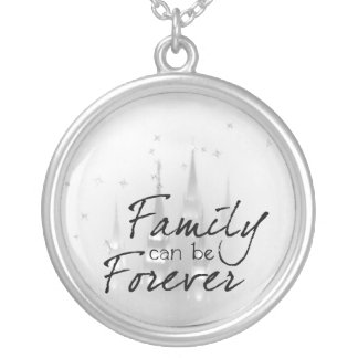 family can be forever round pendant necklace