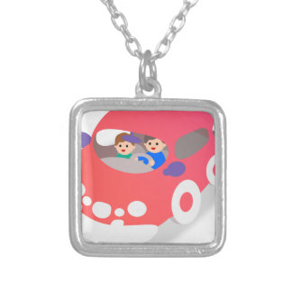 Family Car Silver Plated Necklace