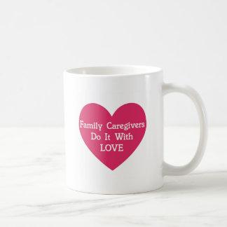 Family Caregivers Do It With Love Coffee Mug