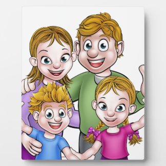 Family Cartoon Characters Plaque