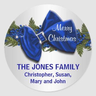 Family Christmas greeting seals PERSONALIZE