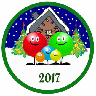 Family Christmas Ornament 2017 Acrylic Cut Out