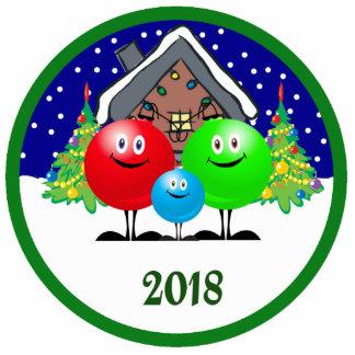 Family Christmas Ornament 2018 Photo Cutouts
