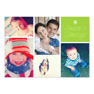 Family Christmas Season's Greetings 13 Cm X 18 Cm Invitation Card
