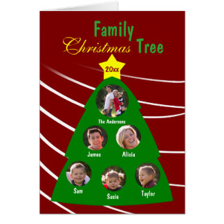 Family Christmas Tree Custom Photo Greeting Card