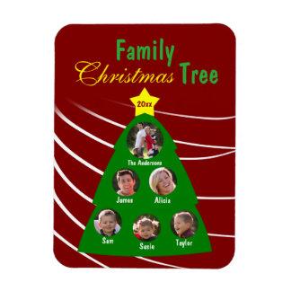 Family Christmas Tree Keepsake Custom Photo Magnet