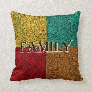 Family Colorblock Pillow