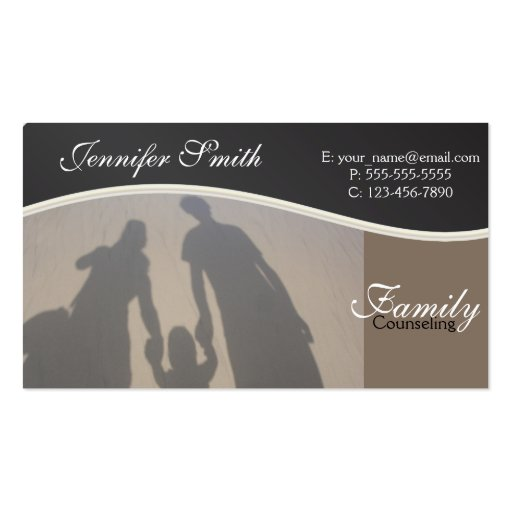 Family counseling pack of standard business cards zazzle for Family business cards