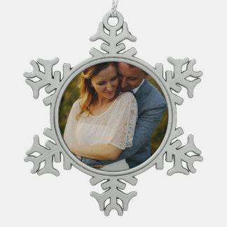 FAMILY/COUPLE MEMORIES SNOWFLAKE SNOWFLAKE PEWTER CHRISTMAS ORNAMENT