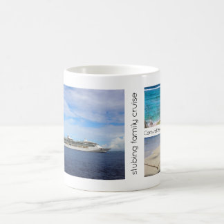 Family Cruise Caribbean Vacation | 5 Photo Collage Coffee Mug