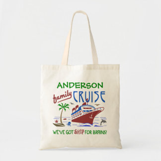 Family Cruise Vacation Funny Ship | Custom Name Tote Bag