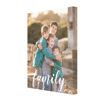 Family Custom Photo Canvas