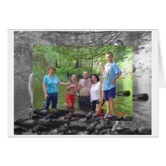 family dam bw, family dam card