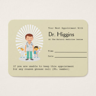 Family Doctor Appointment Reminder Business Card