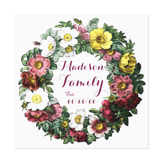 family established sign canvas print