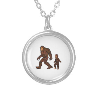 Family Field Day Silver Plated Necklace