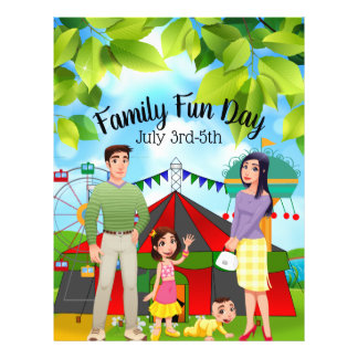 Family Fun Day Business Promotional Flyer
