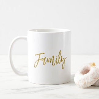 Family Gold Foil Coffee Cup
