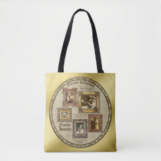 Family History Antique Photo Frames Gold Collage Tote Bag