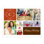 Family Holiday Greeting Post Card