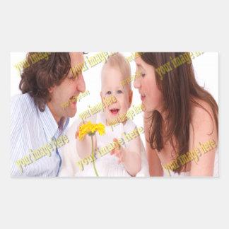 Family Image Memories Photo Template Rectangular Sticker