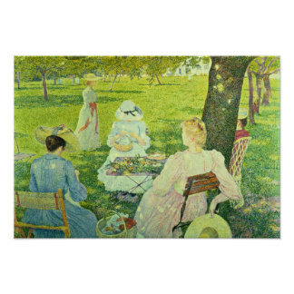 Family in the Orchard, 1890 Posters