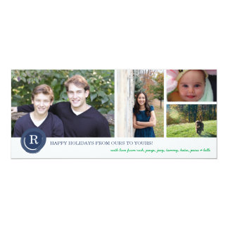 Family Initial 10 Cm X 24 Cm Invitation Card