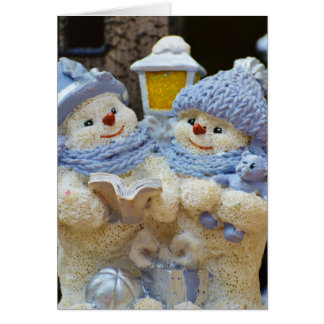 """Family is Forever"" Snow Couple Christmas Card"