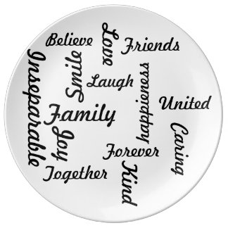 Family Jigsaw Plate