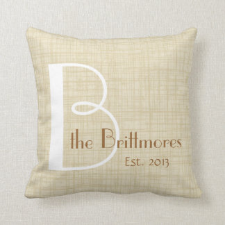 Family Keepsake Parchment Pillow, Customize Cushion