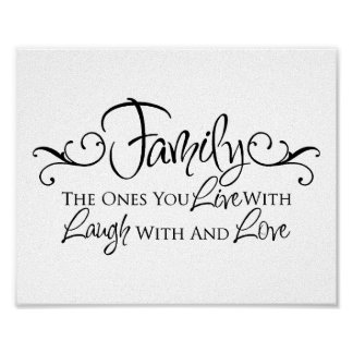 Family & Love Quote Print