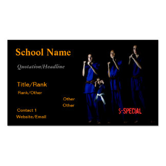 Family Martial Arts Pack Of Standard Business Cards