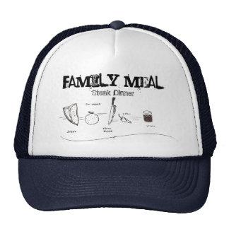 Family Meal Steak Dinner Hats