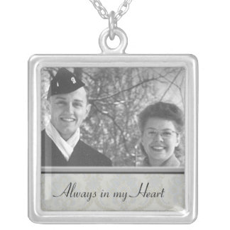 Family Memorial Photo Necklace