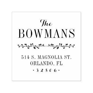 Family Monogram Address Stamp