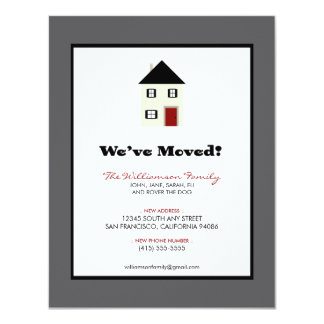 "Family Moving Announcement 4.25"" x 5.5"" :: slate"