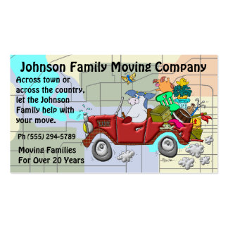 Family Moving Company Double-Sided Standard Business Cards (Pack Of 100)
