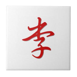 Family Name 李 Tile