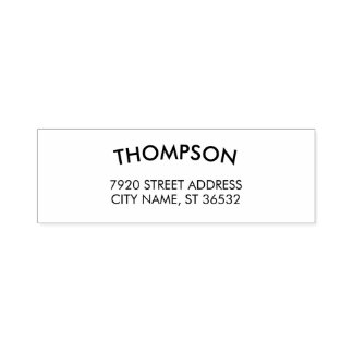 Family Name Elegant Curved Text Self-inking Stamp