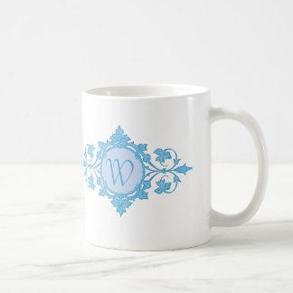 """""""Family Name"""" in Blue Circle Motif Coffee Mug"""