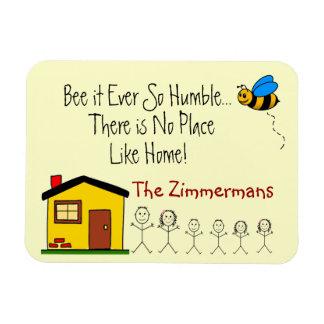 Family Name -No Place Like Home Rectangular Photo Magnet